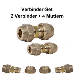 Verbinderset 2xVerbinder 4xMutter Zoll
