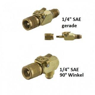 """Schnellkupplung/Verbinder 1/4"""" SAE gerade oder 90° Winkel"""