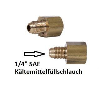 """Reduzierung Stickstoff-Druckminderer auf 1/4"""" SAE (Füllschlauch)"""