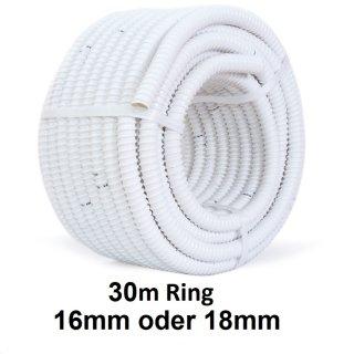 Tauwasserschlauch, Kondensatschlauch für Klimaanlagen 30m Ring 16mm oder 18mm