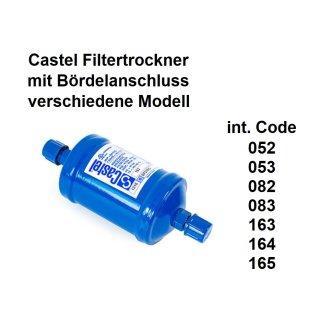Castel Filtertrockner mit Bördelanschluss verschiedene Größen
