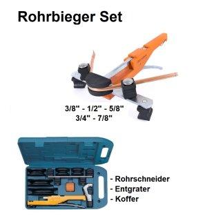 Rohrbieger Set, Biegezange, Rohrbieger im Koffer inkl. Rohrschneider und Entgrater