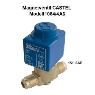 """Magnetventil CASTEL 1064/4A6 1/2"""" SAE Bördel inkl. Spule"""