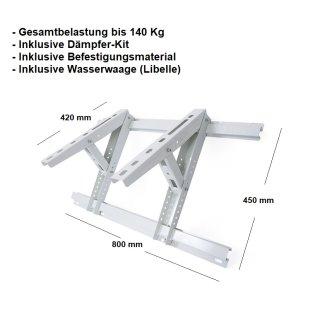 Dachkonsole MT630, Konsole für Splitklimaanlagen 800x420 bis 140 Kg