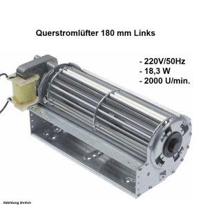 Querstromlüfter, Radiallüfter 180 mm Links 220V/50Hz