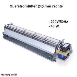 Querstromlüfter, Radiallüfter 240 mm Rechts 220V/50Hz
