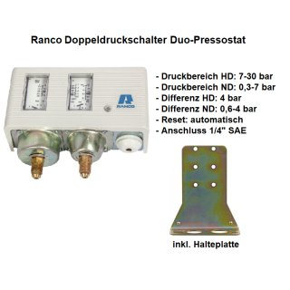 Ranco Doppeldruckschalter, Duo-Pressostat  017-H4758