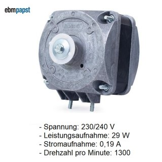 EBM PAPST Lüftermotor, Kondensator-Ventilatormotor 5 W M4Q045-BD01-01