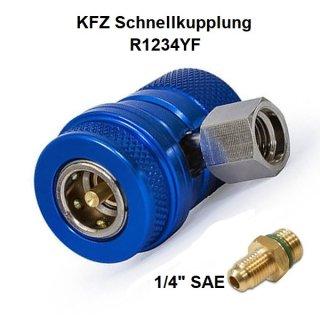 KFZ Klima Schnellkupplung für Kältemittel R1234YF Niederdruck