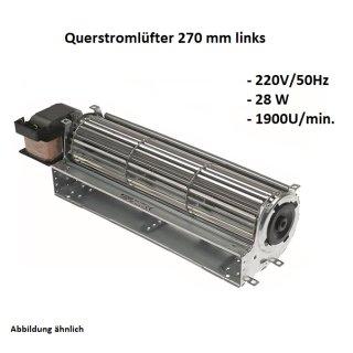 Querstromlüfter, Radiallüfter 270 mm Links 220V/50Hz