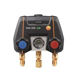 testo 550i - App-gesteuerte digitale Monteurhilfe mit Bluetooth und 2-Wege Ventilblock