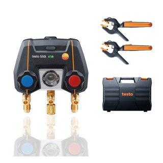 testo 550i Smart Set - App-gesteuerte digitale Monteurhilfe mit kabellosen Zangen-Temperaturfühlern (NTC)