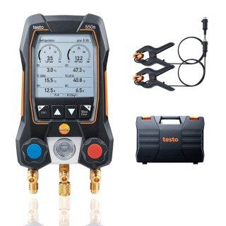 testo 550s Basis Set - Smarte digitale Monteurhilfe mit kabelgebundenen Zangen-Temperaturfühlern