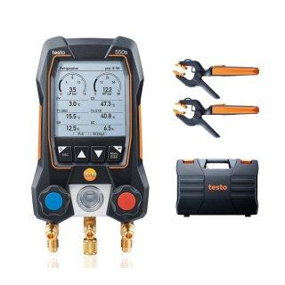 testo 550s Smart Set - Smarte digitale Monteurhilfe mit kabellosen Zangen-Temperaturfühlern